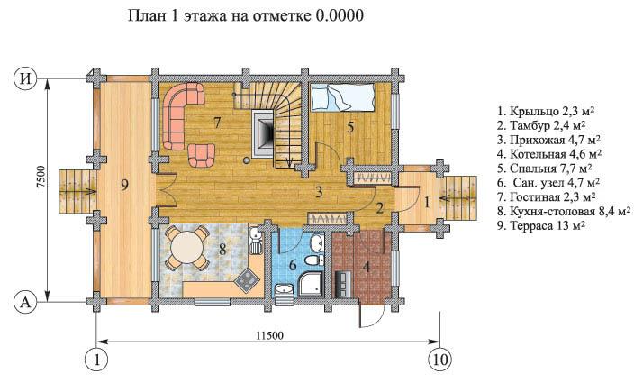 План второго этажа. house 100
